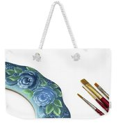 Rose Drawing On Wreath, Tole And Decorative Painting, American S Weekender Tote Bag