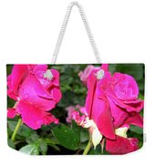 Rose Duo Weekender Tote Bag