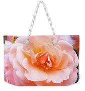 Rose Floral Art Print Peach Pink Roses Garden Canvas Baslee Troutman Weekender Tote Bag