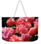 Rose Garden Art Prints Pink Red Rose Flowers Baslee Troutman Weekender Tote Bag