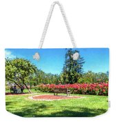 Rose Garden Benches Impressionist Digital Painting Weekender Tote Bag