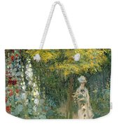 Rose Garden Weekender Tote Bag by Claude Monet