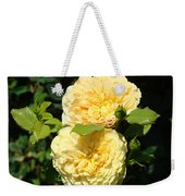 Rose Garden Floral Art Print Yellow Roses Canvas Baslee Troutman Weekender Tote Bag