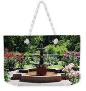 Rose Garden Fountain Weekender Tote Bag