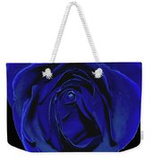 Rose Heart In Blue Velvet Weekender Tote Bag