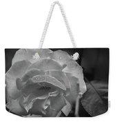 Rose In Black And White Weekender Tote Bag by Kelly Hazel