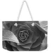 Rose In Black Weekender Tote Bag