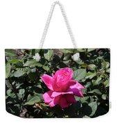Rose In Flower Bed Weekender Tote Bag