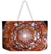 Rose Of Life Copper Lightmandala Weekender Tote Bag
