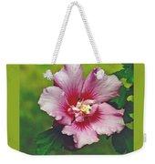 Rose Of Sharon Blossom Weekender Tote Bag