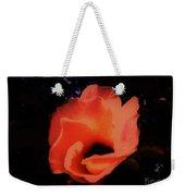 Rose Of Sharon Orange On Black Weekender Tote Bag