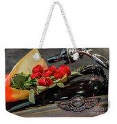 Harley Davidson And Roses Weekender Tote Bag