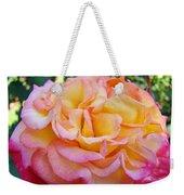 Rose Pink Yellow Rose Flower 2 Rose Garden Giclee Prints Baslee Troutman Weekender Tote Bag