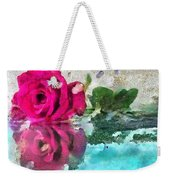 Rose Reflected Fragmented In Thick Paint Weekender Tote Bag