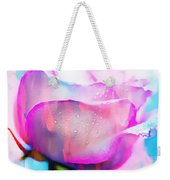 Rose Soft Pink Silked In Thick Paint Weekender Tote Bag