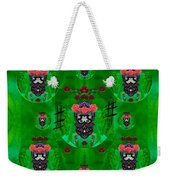 Rose Sugar Skull In Fern Garden Weekender Tote Bag