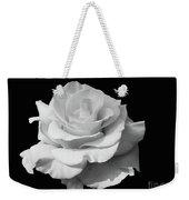 Rose Unfurled In Black And White Weekender Tote Bag