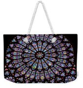 Rose Window At Notre Dame Cathedral Paris Weekender Tote Bag