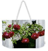 Rose Window Weekender Tote Bag