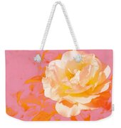 Rose With Pink Background Weekender Tote Bag