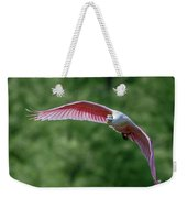 Roseate Spoonbill In Flight 2 Weekender Tote Bag