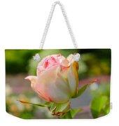 Rosebud Pale Pink Weekender Tote Bag
