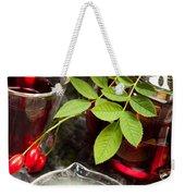 Rosehip Tea With Lemon In Glass Weekender Tote Bag