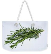 Rosemary Isolated On White Weekender Tote Bag