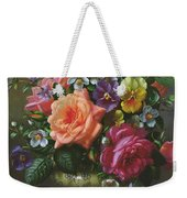 Roses And Pansies Weekender Tote Bag