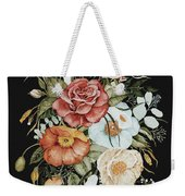 Roses And Poppies Bouquet Weekender Tote Bag