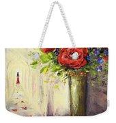 Roses And Woman Weekender Tote Bag