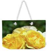 Roses Art Prints Canvas Sunlit Yellow Rose Flowers Baslee Troutman Weekender Tote Bag
