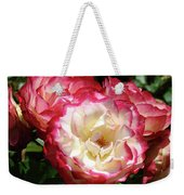 Roses Art Prints Pink White Rose Flowers Gifts Baslee Troutman Weekender Tote Bag