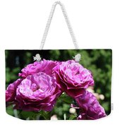 Roses Art Rose Garden Pink Purple Floral Prints Baslee Troutman Weekender Tote Bag
