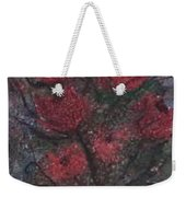 Roses At Night Gothic Surreal Modern Painting Poster Print Weekender Tote Bag