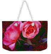 Roses Beautiful Pink Vegged Out Weekender Tote Bag