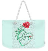 Roses Hearts And Lace Flowers Design  Weekender Tote Bag