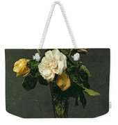 Roses In A Champagne Flute Weekender Tote Bag