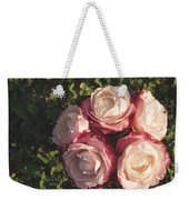 Roses In A Vase,on The Grass Weekender Tote Bag