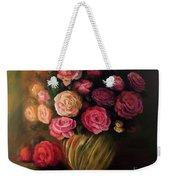 Roses In Brass Bowl Weekender Tote Bag