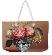 Roses In China Vase Weekender Tote Bag