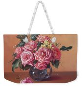 Roses In Glass Weekender Tote Bag