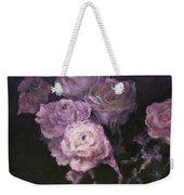 Roses In Mauve Weekender Tote Bag by Diane Kraudelt