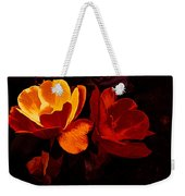 Roses In Molten Gold Art Weekender Tote Bag