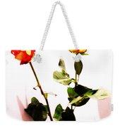 Roses In The Light Weekender Tote Bag
