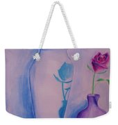 Roses  In Vase Weekender Tote Bag
