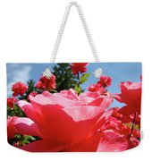 Roses Pink Rose Landscape Summer Blue Sky Art Prints Baslee Troutman Weekender Tote Bag