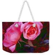 Roses Silked Pink Vegged Out Weekender Tote Bag
