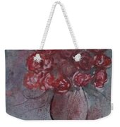Roses Still Life Watercolor Floral Painting Poster Print Weekender Tote Bag