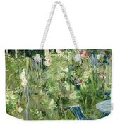 Roses Tremieres Weekender Tote Bag by Berthe Morisot